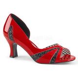 Rojo Charol 7,5 cm JENNA-03 zapatos de salón tallas grandes