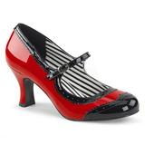 Rojo Charol 7,5 cm JENNA-06 zapatos de salón tallas grandes