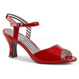 Rojo Charol 7,5 cm JENNA-09 sandalias tallas grandes