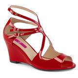 Rojo Charol 7,5 cm KIMBERLY-04 sandalias tallas grandes