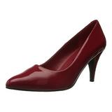 Rojo Charol 7,5 cm PUMP-420 Zapato Salón Clasico para Mujer
