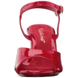 Rojo Charol 8 cm BELLE-309 Sandalias Femininas Planos