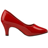 Rojo Charol 8 cm DIVINE-420W Calzado de Salón Planos Tacón