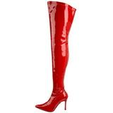 Rojo Charol 9,5 cm LUST-3000 over knee botas altas con tacón