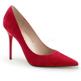 Rojo Gamuza 10 cm CLASSIQUE-20 zapatos de stilettos tallas grandes