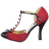 Rojo Gamuza 10 cm SMITTEN-10 Calzado de Salón Planos Tacón