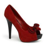 Rojo Gamuza 13,5 cm LOLITA-10 Plataforma Zapatos de Sal�n