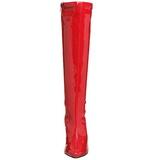 Rojo Lacado 13 cm Pleaser SEDUCE-2000 Botas Media Mujer