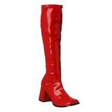 Rojo Lacado 8,5 cm Funtasma GOGO-300 Botas Media Mujer