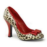 Rojo Leopardo 10 cm SMITTEN-01 Calzado de Sal�n Planos Tac�n