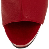 Rojo Mate 15 cm DELIGHT-1018 Plataforma Botines Altos