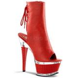 Rojo Mate 16,5 cm Pleaser ILLUSION-1018 Plataforma Botines Altos