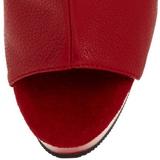 Rojo Mate 16 cm DELIGHT-1018 Plataforma Botines Altos