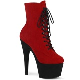 Rojo Negro 18 cm ADORE-1020FSTT exotic botines de pole dance