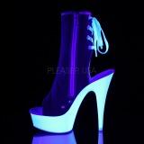 Rojo Neon 15 cm DELIGHT-1018SK Zapatos de lona con tacón