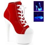 Rojo Neon 18 cm ADORE-700SK-02 Zapatos de lona con tacón