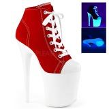 Rojo Neon 20 cm FLAMINGO-800SK-02 Zapatos de lona con tacón
