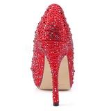Rojo Piedras Brillantes 13,5 cm FELICITY-20 Zapatos de tacón altos mujer
