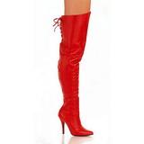 Rojo Piel 13 cm LEGEND-8899 Largas Botas Altas para Hombres