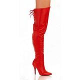 Rojo Piel 13 cm LEGEND-8899 over knee botas altas con tacón