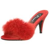 Rojo Plumas 8 cm AMOUR-03 Zuecos de mujer para Hombres