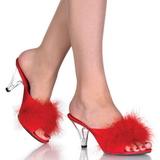 Rojo Plumas 8 cm BELLE-301F Zuecos de mujer para Hombres