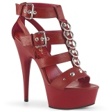 Rojo Polipiel 15 cm DELIGHT-658 Zapatos pleaser con tacones altos