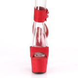 Rojo Polipiel 18 cm ADORE-791FS tacones altos con correa al tobillo