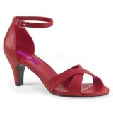 Rojo Polipiel 7,5 cm DIVINE-435 sandalias tallas grandes