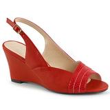Rojo Polipiel 7,5 cm KIMBERLY-01SP sandalias tallas grandes