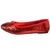 Rojo STAR-16G brillo zapatos de bailarinas mujer planos