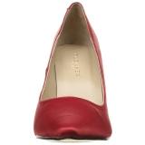 Rojo Satinado 10 cm CLASSIQUE-20 Stiletto Zapatos Tacón de Aguja