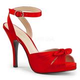 Rojo Satinado 12,5 cm EVE-01 sandalias tallas grandes