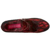 Rojo Satinado 14,5 cm TEEZE-07L Plataforma Zapatos de Salón
