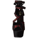 Rojo Satinado 15 cm Pleaser DELIGHT-678LC Plataforma Tacones Altos