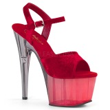 Rojo Terciopelo 18 cm ADORE-709MCT sandalias de pole dance