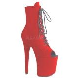 Rojo Terciopelo 20 cm FLAMINGO-1021FS botines de pole dance