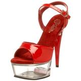 Rojo Transparente 15 cm CAPTIVA-609 Plataforma Tacones de Aguja