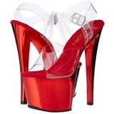 Rojo Transparente 18 cm SKY-308 Plataforma Tacones de Aguja