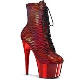 Rojo cromo 18 cm ADORE-1020HFN exotic botines de pole dance