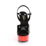 Rojo cromo plataforma 15 cm DELIGHT-609 tacones altos pleaser