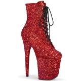 Rojo glitter 20 cm FLAMINGO-1020GWR exotic botines de pole dance