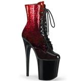 Rojo glitter 20 cm FLAMINGO-1020OMB exotic botines de striptease