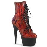 Rojo patrón de serpiente 18 cm ADORE-1020SP exotic botines de pole dance