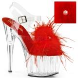 Rojo plumas de marabu 18 cm ADORE-708MF Zapatos pole dance