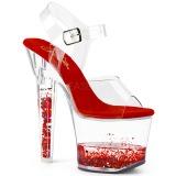 Rojo purpurina 18 cm LOVESICK-708GH Zapatos con tacones pole dance