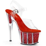 Rojo purpurina 18 cm Pleaser ADORE-708G Zapatos con tacones pole dance