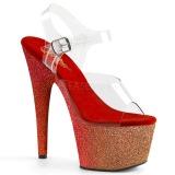 Rojo purpurina 18 cm Pleaser ADORE-708OMBRE Zapatos con tacones pole dance
