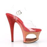Rojo purpurina 18 cm Pleaser MOON-708OMBRE Zapatos con tacones pole dance