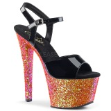 Rojo purpurina 18 cm Pleaser SKY-309LG Zapatos con tacones pole dance